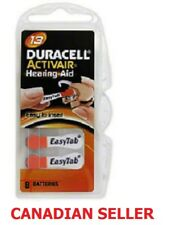 New Super Fresh Duracell Activair Size 13 P13 Hearing Aid Battery Pack of 8
