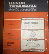 Revue technique CITROEN DYANE tous modeles RTA 261 1968