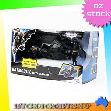 GENUINE The Dark Knight BATMOBILE Toys Vehecle BATMAN BLACK Tumbler With Figure