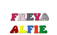 Free standing wooden letters - Small hand-painted Personalised letters and names