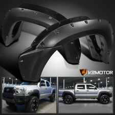 2012-2015 Toyota Tacoma Pocket Style Bolt On Rivet Fender Flares Smooth Black