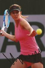 TENNIS: TSVETANA PIRONKOVA SIGNED 6x4 ACTION PHOTO+COA *WIMBLEDON*