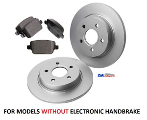 FOR FORD GALAXY MK3 (2006-) REAR BRAKE DISCS AND REAR BRAKE PADS SET