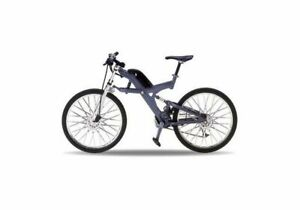 BMW XTR Diecast Model Bicycle in Grey (1:10 scale by Welly 62574)