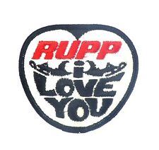"""Vintage RUPP Snowmobile Embroidered Sew On Patch """"RUPP i LOVE YOU"""""""