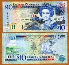 Eastern East Caribbean $10 (2003) Dominica Pick 43d UNC