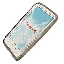 SILICONE TPU per cellulare Cover Case Guscio Custodia Protettiva Guscio in Smoke per HTC Desire HD
