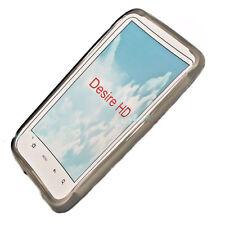 Silikon TPU Handy Cover Case Hülle Schale Schutzhülle in Smoke für HTC Desire HD