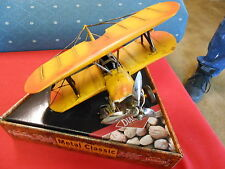 Nib- Yellow Metal Classics 2002 Biplane Model by Blue Diamond Nuts.Sale