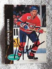 Montreal Canadiens Sylvain Lefebvre Signed 92/93 Parkhurst Card Auto