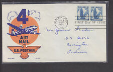 USA AIR MAIL CACHET COVER-1954-4 CENT AIRMAIL-FIRST DAY OF ISSUE