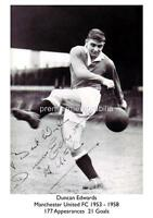 MANCHESTER UNITED FC BUSBY BABES LEGEND DUNCAN EDWARDS SIGNED (PRINTED) A4 PRINT