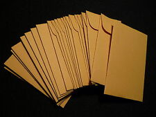 25  KRAFT  28 lb.  PAPER  COIN ENVELOPES  ( 2.25 X 3.5 )   ACID FREE  (#1)