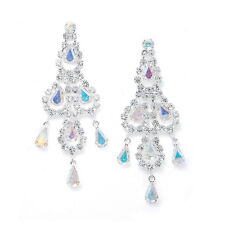 CHANDELIER EARRINGS by MARIELL GENUINE AUSTRIAN CRYSTAL & IRIDESCENT RHINESTONE