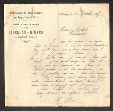 "BAUGY (18) FABRIQUE de CHAUSSURES ,SABOTS & GALOCHES ""GIBEREAU & MINARD"" en 1917"