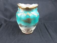 AJ Wilkinson Spill Vase Gold Trim England