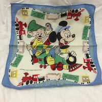 Vintage Childs Handkerchief Walt Disney Studios Mickey Mouse Dopey