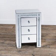 Mirrored VenetianCrushed Diamond 3 Drawer Bedside Table W45 x D35 x H66cm