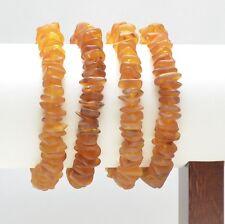 4 items 39.8 gr D-145 Lot wholesale Baltic amber cognac bracelet