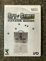 Spy Games Elevator Mission WII Shooter (Video Game) Complete Tested Free Ship
