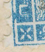 FRANKREICH 1874 25 C Ceres EF Pra.-Bf, ABART linker Rahmen unten links gebrochen