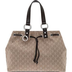 OROTON Signature O Medium Shopper Tote Bag Leather Chocolate Designer Bag - NEW