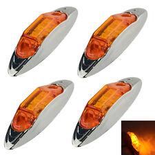 4pcs Amber Truck Auto Van Car LED Side Marker Lights Lamp Indicator 12V 24V US
