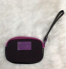 Marc by Marc Jacobs Purple Neoprene Logo Small Zippered Pouch Wallet Wristlet