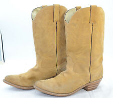 Durango Boots Womens Sz 9 Suede Leather Tan Western Cowgirl Riding Work Boots
