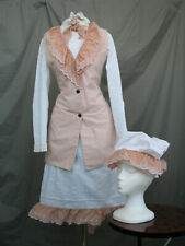 Victorian Dress Girl's Civil War Costume Edwardian Reenactment Small Women's