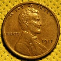 AU 1917 Lincoln Wheat Cent. Sharp old date!