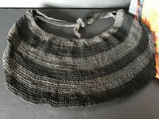 Old Papua New Guinea Billum Bag in Shades of Grey …beautiful collection / accent
