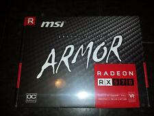 MSI Radeon RX 570 DirectX 12 ARMOR 8GB OC 256-Bit GDDR5 gfx graphics Video Card