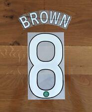 Scott Brown #8 CELTIC EUROPEAN Away Name Set