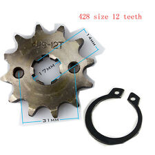 428-12T 17mm 428 Size 12 Teeth Front Sprocket  For Motorcycle ATV Dirt bike