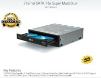 LG 16x Blu-ray Burner,3D Player BD-RE/16x DVD±RW DL SATA Drive w/M-DISC Support!