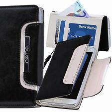 Handy Tasche Schutz Hülle Case Etui Flip Cover Für HTC Desire 626G Schwarz-Weiss