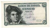 Billete de España 5 pesetas 1943 Juan Sebastian de Elcano J09471577