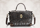 NWT Genuine Cow Leather Steampunk Decorative Women's Handbag