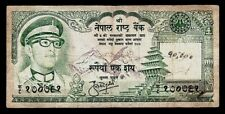 NEPAL 100 RUPEES P26 1974 F+ RHINOCEROS+KING MAHENDRA+MT. EVEREST Ppd-USA