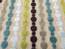 Kravet Geometric Circle Stripe Cut Velvet Upholstery Fabric 1.75 yd 30180-310