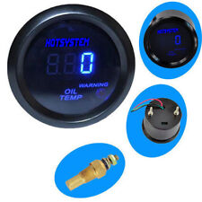 "HOTSYSTEM BLACK 2"" 52MM DIGITAL LED OIL TEMP TEMPERATURE GAUGE METER"