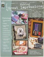 Hot Off The Press Making Great Impressions Instruction Book Rubber Stamps & Clay