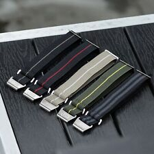 B & R Bands Military Elastic Parachute Style Watch Band Straps 20mm 22mm