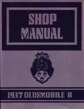 1937 Oldsmobile Shop Service Repair Manual Engine Drivetrain Electrical Book OEM