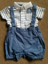 BNWT NEXT Baby Boys Shorts Bodysuit T-Shirt Dungarees Set 3-6 Months