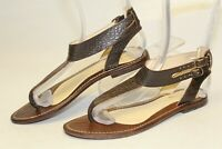 Paprika E-15141 Womens 6 37 Brown Leather Thongs Gladiator Sandals Flats Shoes