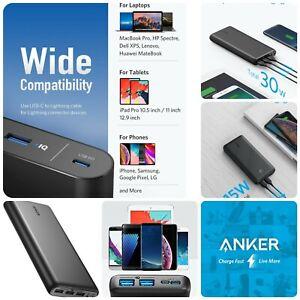 🔋⚡Anker 26800mAh Portable Charger Power Bank External Battery iPhone Samsung