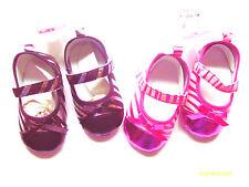 Zapatos Bebé Niña Cochecito con patrón de rayas y sujetador de gancho y bucle