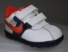 New Nike Roadrunner Crib Shoes White Red Black Toddler 344920-105 Sz 2C Boy Girl